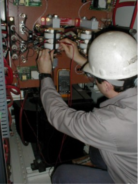 Skilled Ajax Tocco technicians service 25 5.w. brazing power supplies to 60 ton melters